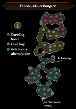 Taverley Slayer Dungeon map