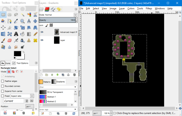 File:Advanced maps - merged dots on map layer.png