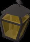 Candle lantern (lit black) detail