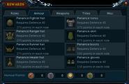 Barbarian Assault rewards interface (Armour)