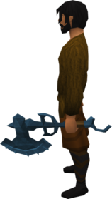 Off-hand rune warhammer equipped