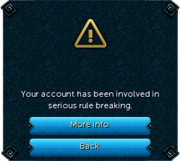 Banned message