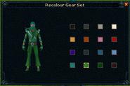 Super disco outfit recolour screen