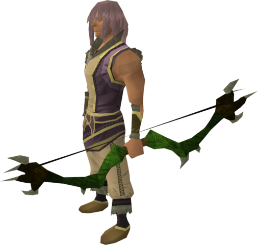 File:Dark bow (green) equipped.png