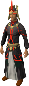 First tower robes equipped (red)