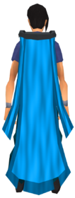 Battlefield cape (blue) equipped