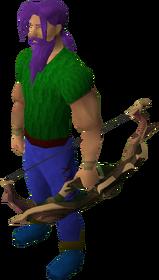 Elder shieldbow equipped