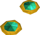 Theatrical earrings (green)