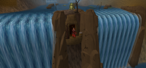 Waterfall dungeon entrance