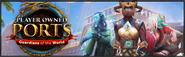 Player Owned Ports lobby banner