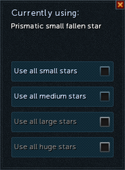 Prismatic fallen star selection