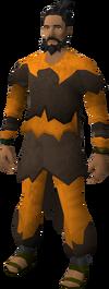 Warlock costume equipped