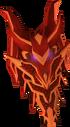 Dragon kiteshield detail