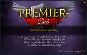 Premier club popup