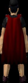 Fremennik cloak (red) equipped