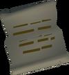 Sam's letter detail