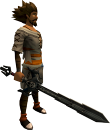 Wilderness sword 4 equipped