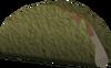 Fish-filled flatbread detail