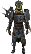 Golem of Strength armour equipped (male)