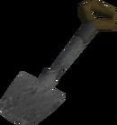 Metal spade detail