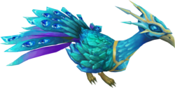 Crystal peacock pet