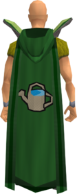 Retro hooded farming cape equipped