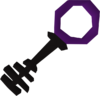 Black key purple detail