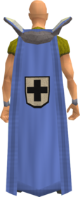 Retro defence cape equipped
