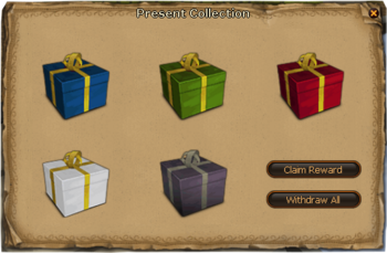 Present collection interface