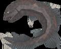 Burnt salve eel detail
