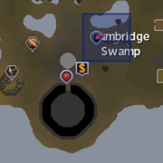 Lumbridge Swamp Caves entrance location