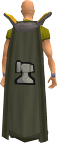 Retro smithing cape equipped