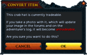 Crab hat warning