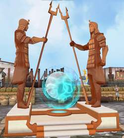 Terracotta portal