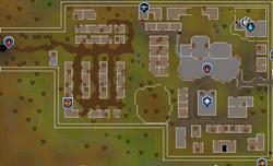 West Ardougne map