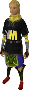 YoungMinds tunic equipped