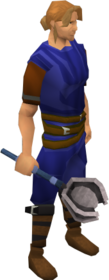 Academy mace equipped
