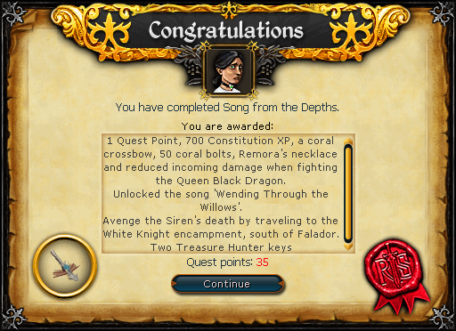Song from the Depths reward