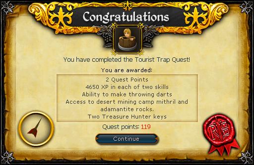 The Tourist Trap reward