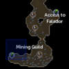Mining Guild resource dungeon entrance location