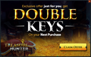 Treasure Hunter double keys promo 2