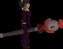 Blood talisman staff equipped