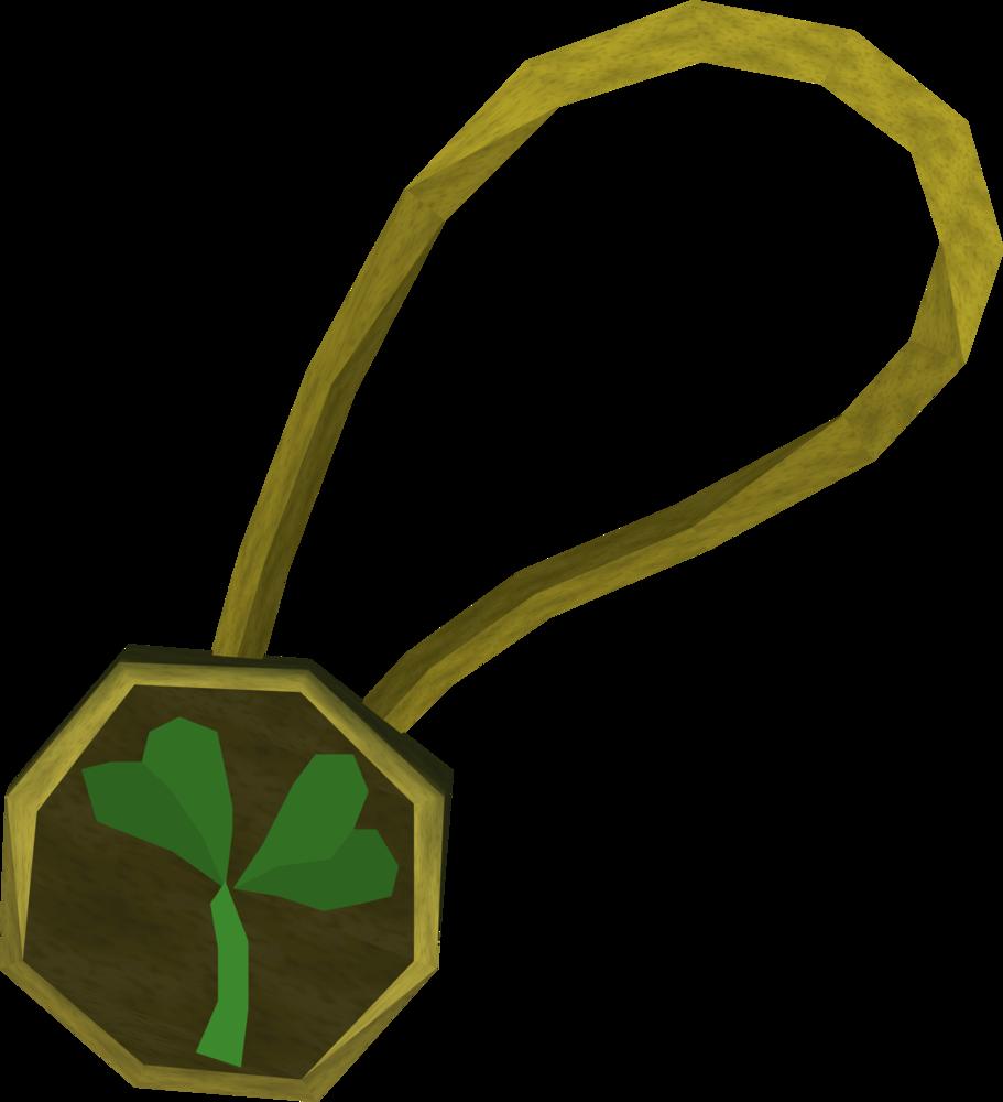 Two-leaf clover necklace detail