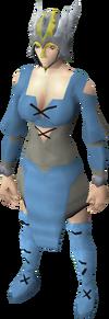 Valkyrie helmet equipped