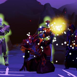 Zamorak usa um pouco de seu poder para fortalecer os Mahjarrat.