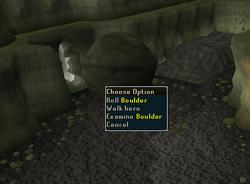 Brine Rat Cavern exit right click options