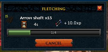 Make X progress window