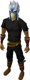 Strong slayer helmet equipped