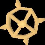 Ancient talisman detail