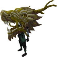 Gold zodiac costume (head) equipped